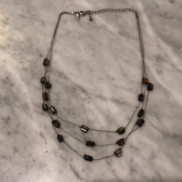 J. Jill Jewelry - J. Jill Brown beads on a silver colored necklace